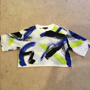 Forever21 crop top, neon 80's style. Size Med